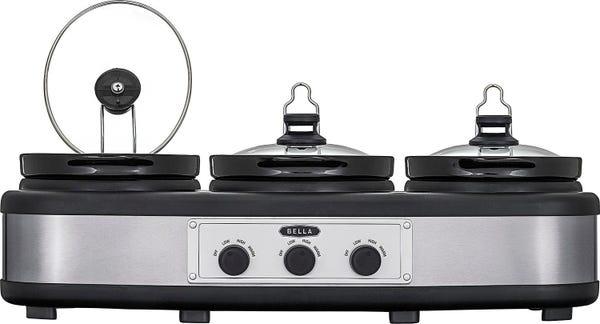 3 x 2.5-Quart Triple Slow Cooker