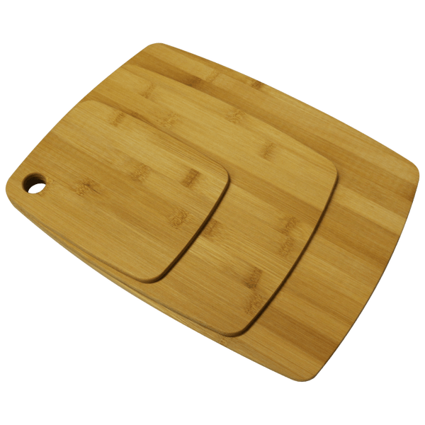 Bombay Set of 3 Bamboo Rectangle Cutting Boards with Rounded Edges