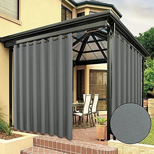BONZER Waterproof Indoor/Outdoor Curtains for Patio