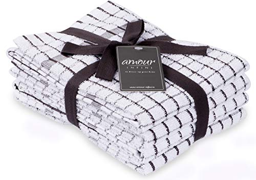 AMOUR INFINI Terry Kitchen Towels | Set of 4