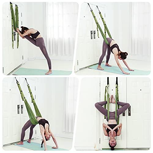Yoga Strap Waist Stretch Strap with Door Anchor
