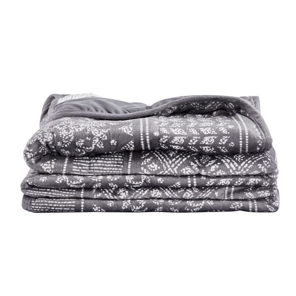 12 lb Ultra Plush Faux Mink Weighted Blanket