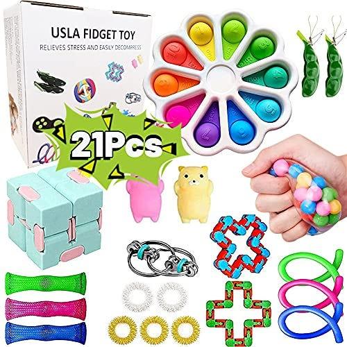 21 pieces Fidget Box Set for Stress Relief