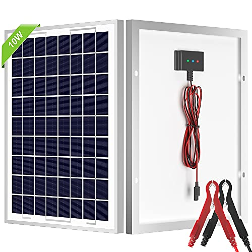 SOLPERK 10W Solar Panel, 12V Solar Panel Kit