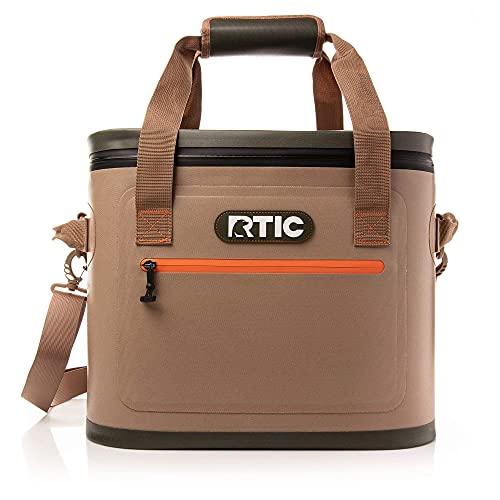 RTIC Soft Cooler 30, Tan, Insulated Bag, Leak Proof Zipper