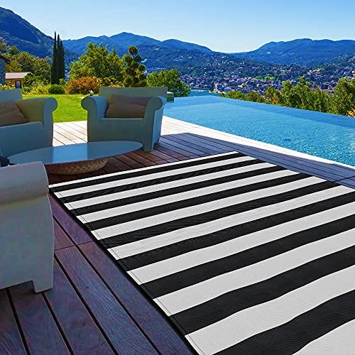 Pcinfuns Plastic Straw Rug,Patio Rugs RV Camping Rug Reversible Mat
