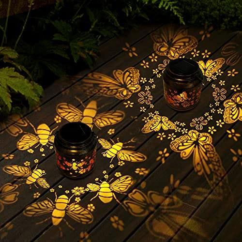 SHYMERY Solar Lanterns Outdoor Hanging Lights, 2 pack
