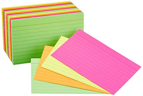 Ruled Index Flash Cards