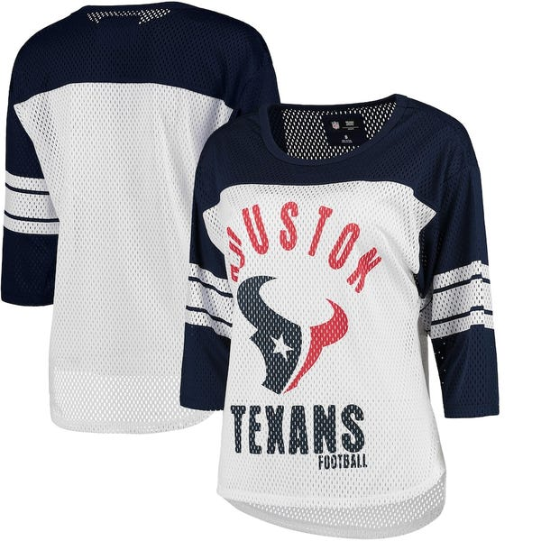 Houston Texans Three-Quarter Sleeve Mesh T-Shirt