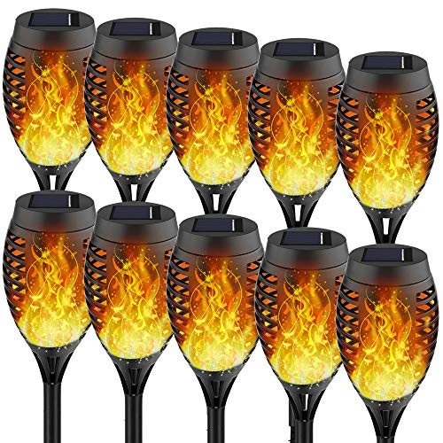 Solar Torches with Flickering Flames