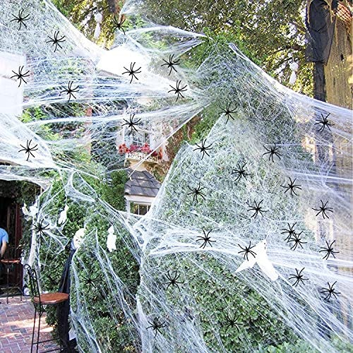 Cobwebs with 60 Fake Spiders