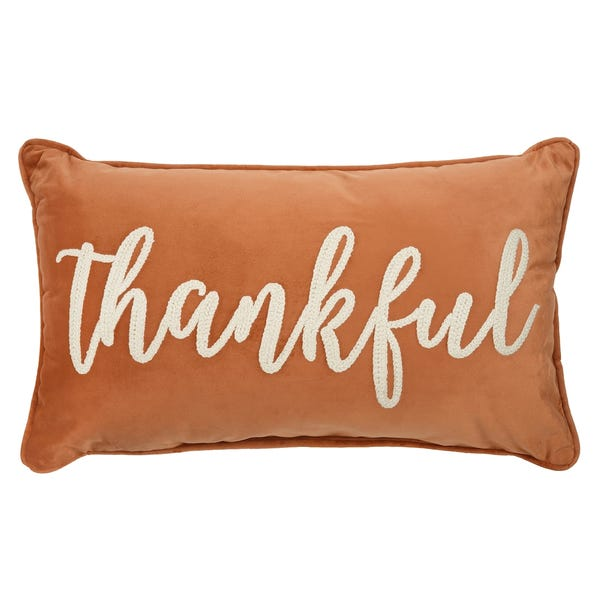 Orange Thankful Softline Pillow