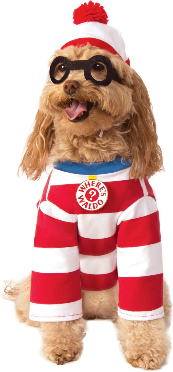 "Where's Waldo ""Woof"" Dog Costume"