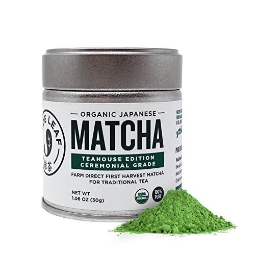 Jade Leaf Organic Ceremonial Grade Matcha Green Tea Powder