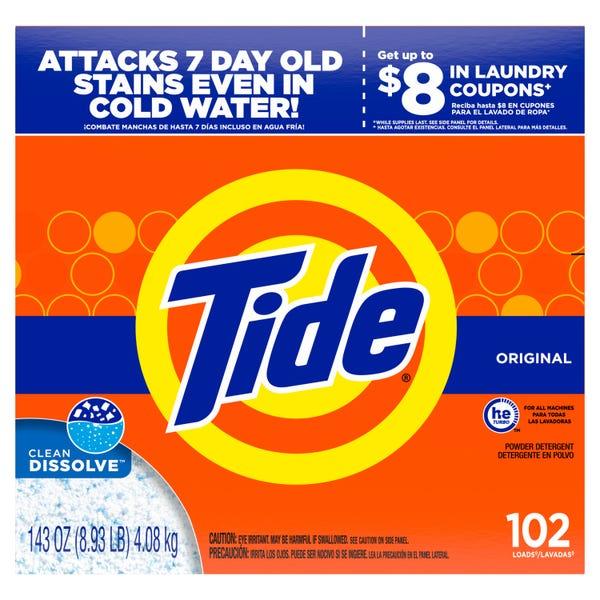 Tide Original 102 Loads, Powder Laundry Detergent