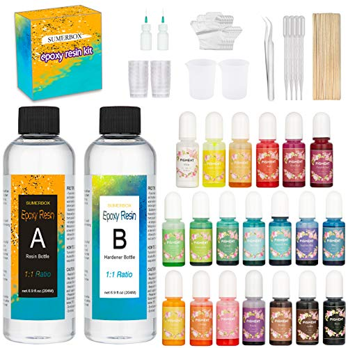 Epoxy Resin and Resin Pigment Set - Crystal Clear Epoxy Resin