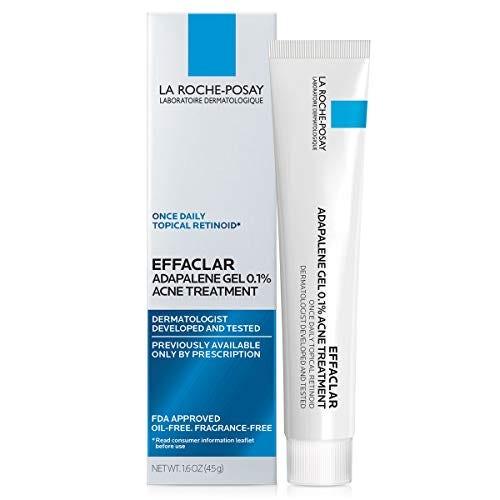 La Roche-Posay Effaclar Adapalene Gel 0.1% Acne Treatment, Prescription-Strength Topical Retinoid For Face