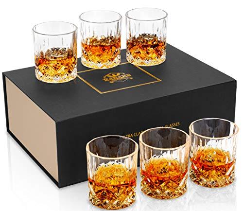 KANARS Whiskey Glasses Set of 6 with Elegant Gift Box