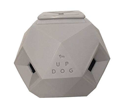 Up Dog Toys The Odin Treat Puzzle Toy, Light Grey