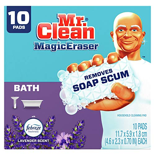 Mr. Clean Magic Eraser, Bathroom and Shower Cleaner with Febreze Lavender Scent