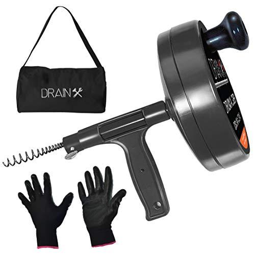Drainx Pro Steel Drum Auger Plumbing Snake