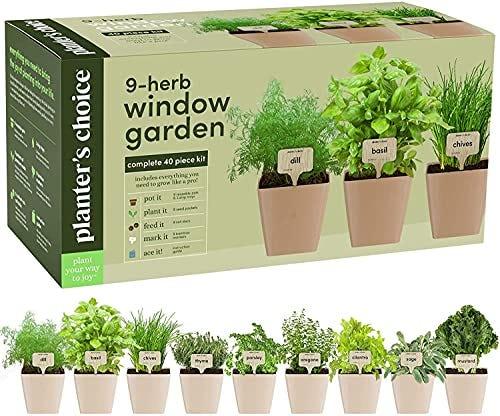 9 Herb Window Garden - Indoor Herb Growing Kit