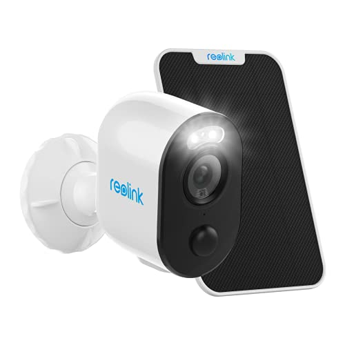 Reolink Argus 3 Spotlight Security Camera Wireless System with Solar Panel Outdoor Battery/Solar Powered