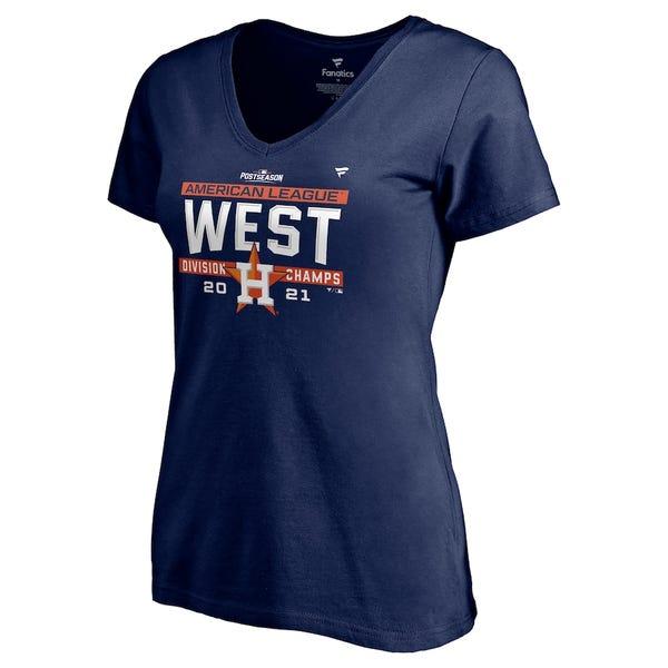 Women's Houston Astros 2021 AL West Division Champions T-Shirt