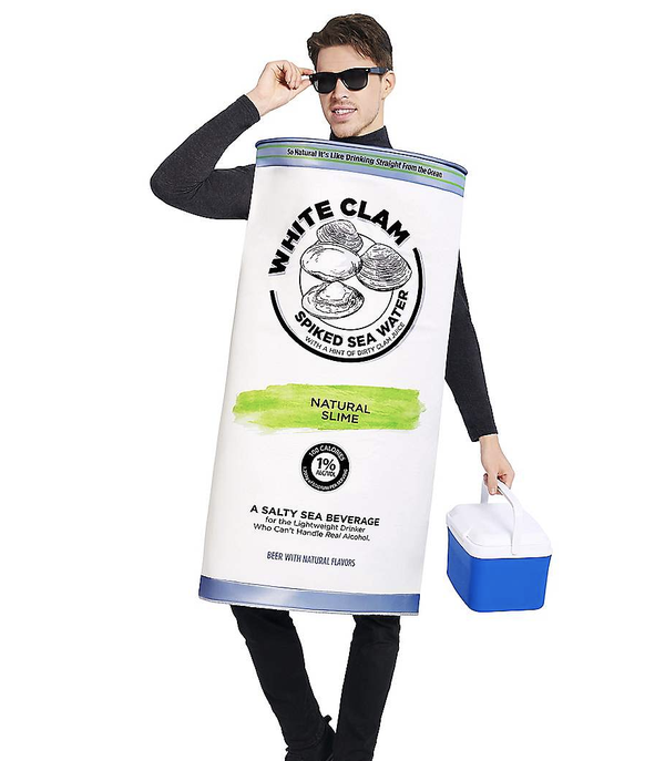 Adult White Clam Seltzer Costume