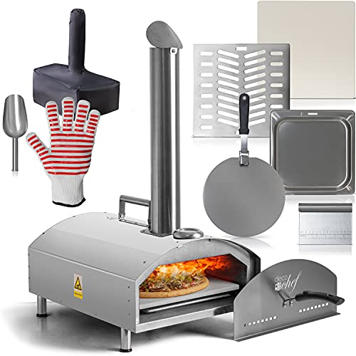 Deco Chef Outdoor Pizza Oven with 2-in-1 Pizza and Grill Oven Functionality