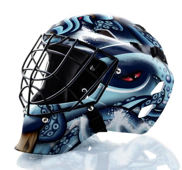Seattle Kraken Unsigned Franklin Sports Replica Goalie Mask