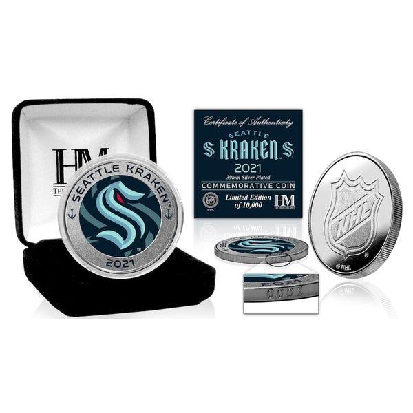 Seattle Kraken Highland Mint Inaugural Season Silver Mint Coin