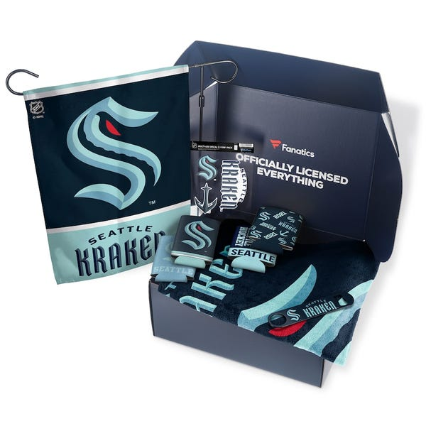 Seattle Kraken Fanatics Pack Tailgate Game Day Essentials Gift Box - $80+ Value