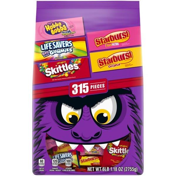 Skittles, Starburst, Live Savers, Hubba Bubba Variety Pack - 315 Pieces