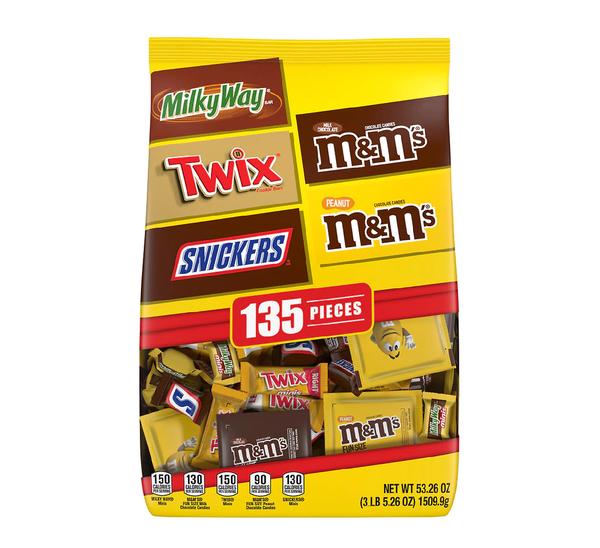 M&M'S, Snickers, Twix & Milky Way Bulk Bag - 135 Pieces