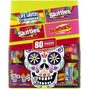 Life Savers Gummy, Skittles & Starburst Bulk Candy Bag - 80 Pieces
