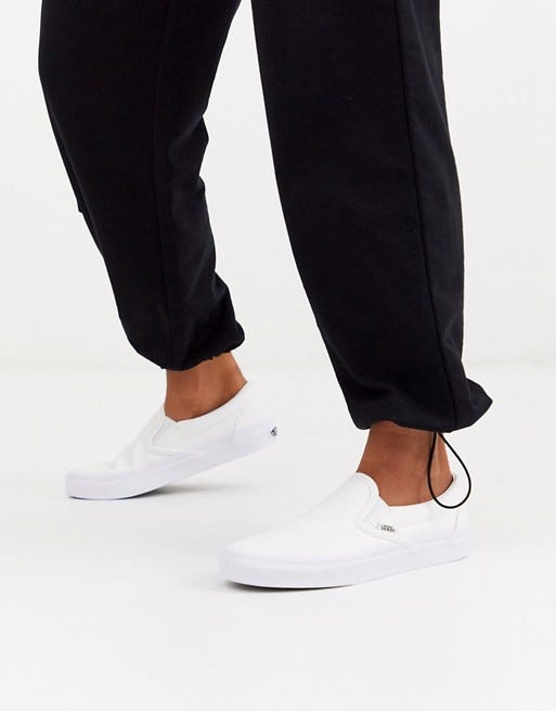 Vans Classic Slip-On triple white sneakers