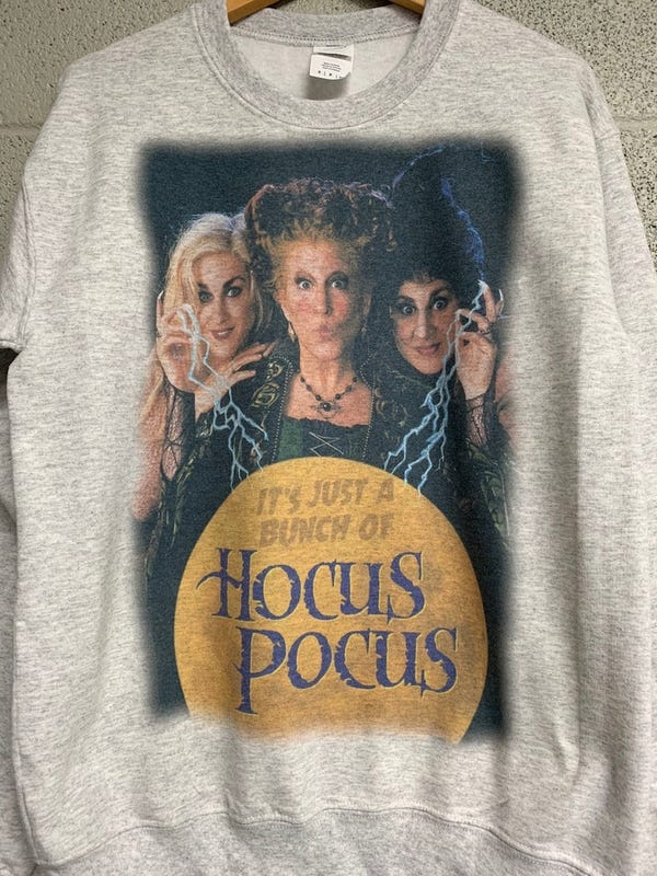 Just a Bunch of Hocus Pocus Sweatshirt Halloween sweatshirt | Etsy