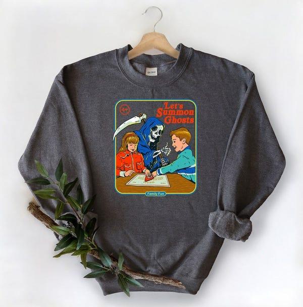 Halloween Vintage Sweatshirt Halloween Doodles Sweatshirt