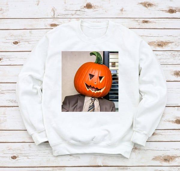 Dwight Pumpkin Head Sweatshirt