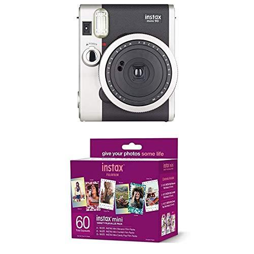 Fujifilm Instax Mini 90 Neo Classic Instant Film Camera + w/60-pack