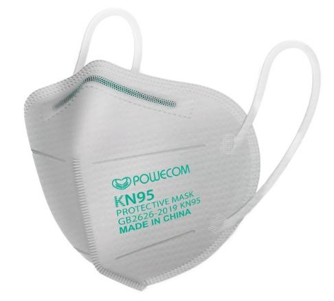 White Powecom® KN95 Respirator Face Mask
