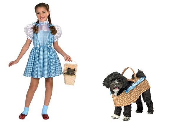 Toto Wizard of Oz, Dog in Basket Dog Costume Halloween