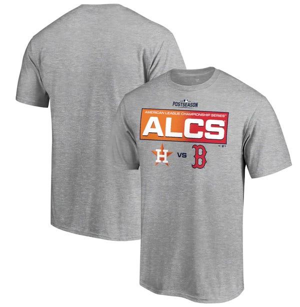 Houston Astros vs. Boston Red Sox Fanatics Branded 2021 ALCS Matchup Batter's Box T-Shirt - Gray