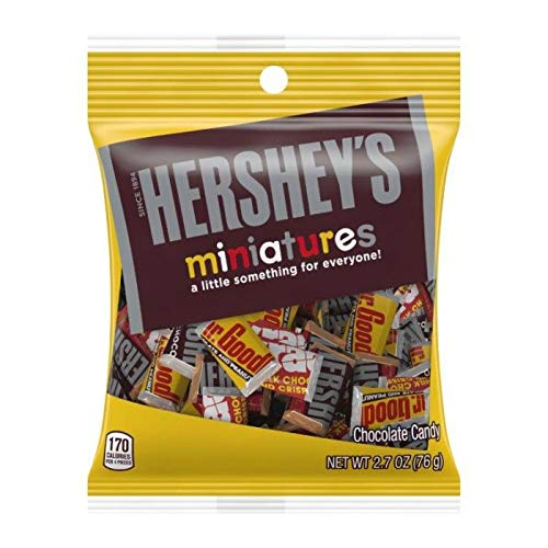 Hershey (1) Bag Miniatures Assorted Mini Candy Bars