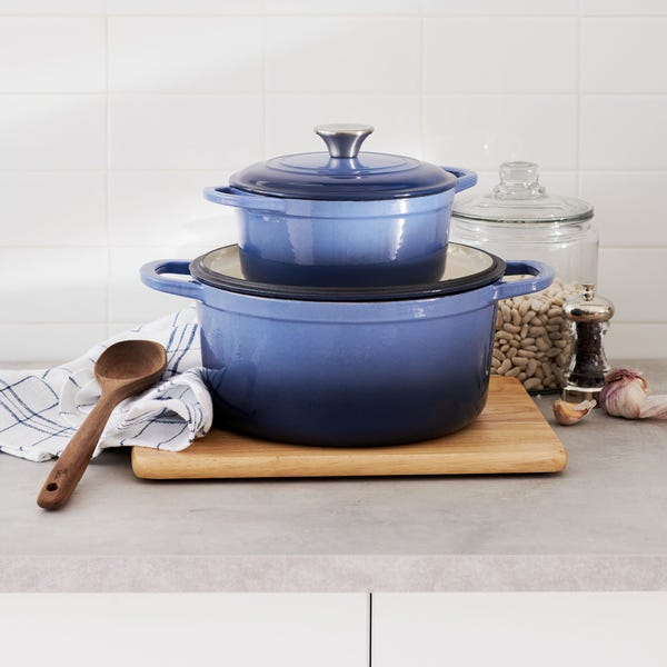 Our Table™ 6 qt. Enameled Cast Iron Dutch Oven in Red