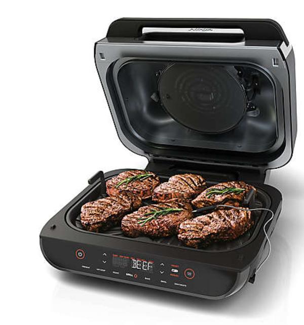 Ninja® Foodi™ Smart XL 6-in-1 Indoor Grill with 4-qt Air Fryer, Roast, Bake, Broil, Dehydrate